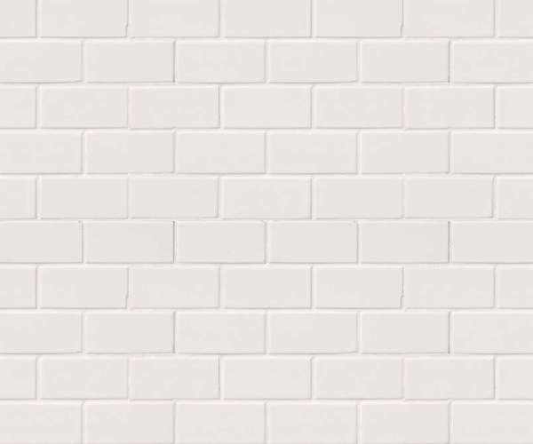 Domino White Glossy Subway Tile 2x4